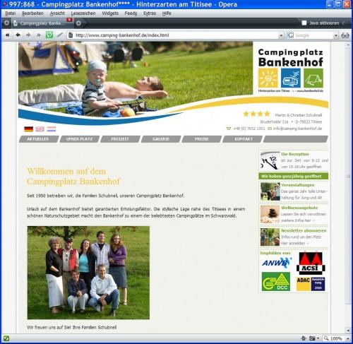 Startseite von www.camping-bankenhof.de