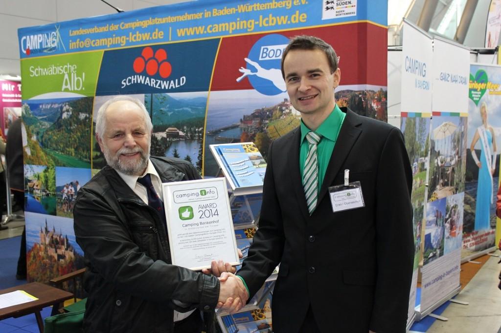 Überreichung Urkunde Camping Info. 2014